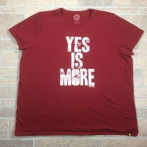 Life Is Good Yes Is More Red Cotton Sleep Shirt